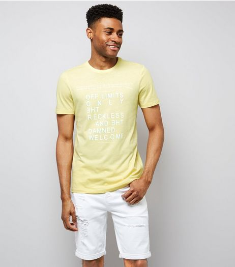 Yellow Off Limits Print T-Shirt | New Look