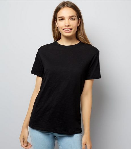 Black Organic Cotton T-Shirt | New Look