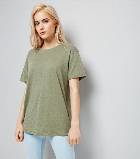 Olive Green Organic Cotton T-Shirt  | New Look