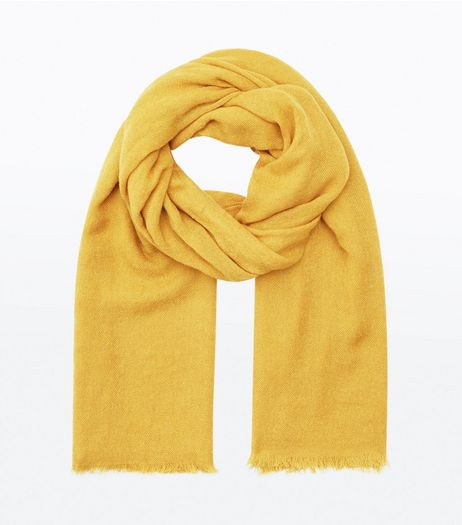 Yellow Plain Scarf  | New Look