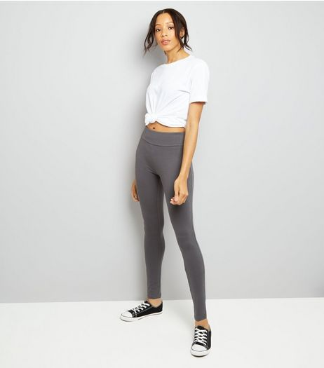 Grey High Waisted Leggings | New Look