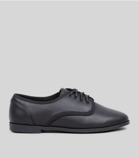Teens Black Lace Up School Brogues  | New Look