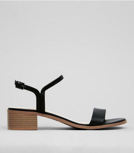 Black Heeled Sandals  | New Look