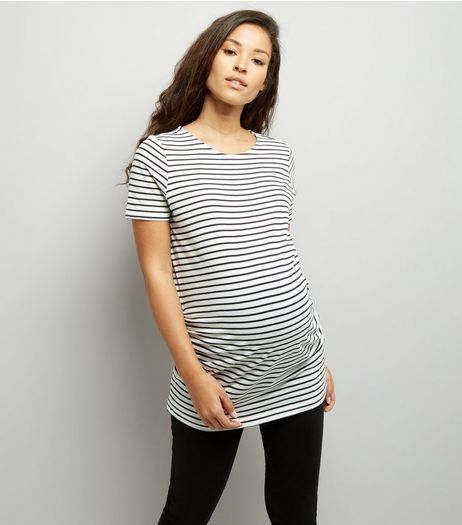 Maternity Navy Stripe T-Shirt | New Look