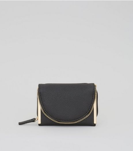 Black Zip Around Purse | New Look