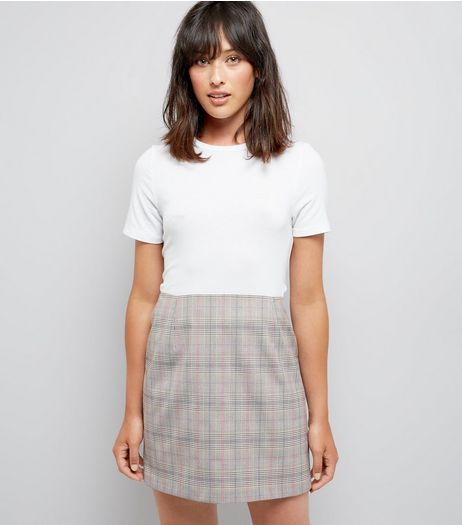 Brown Check Mini Skirt | New Look