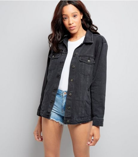 Black Denim Jacket  | New Look