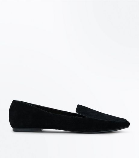 Black Leather Loafers | New Look