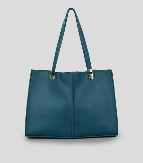 Blue Structured Tote Bag | New Look