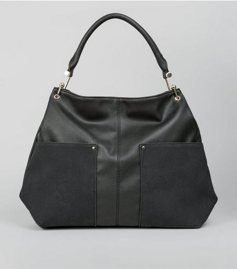 Black Gold Hook Tote Bag | New Look