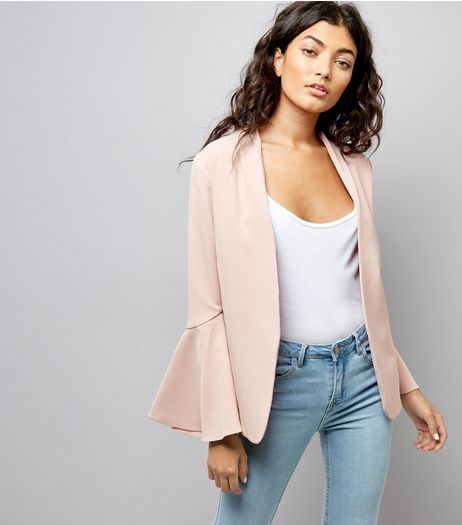 Pink Flared Sleeve Blazer | New Look