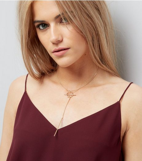 Gold Circle Pentant Necklace  | New Look
