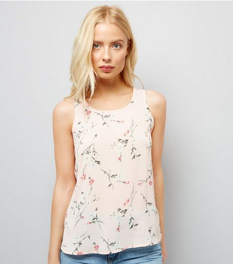 Cameo Rose Pink Floral Print Vest | New Look