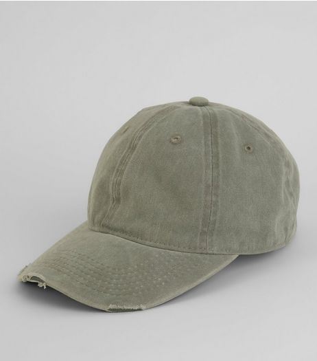 Grey Acid Washed Denim Cap  | New Look