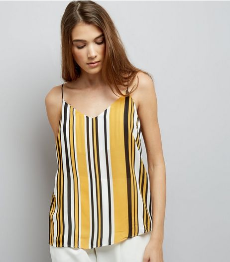 Tall Yellow Striped Cami Top | New Look