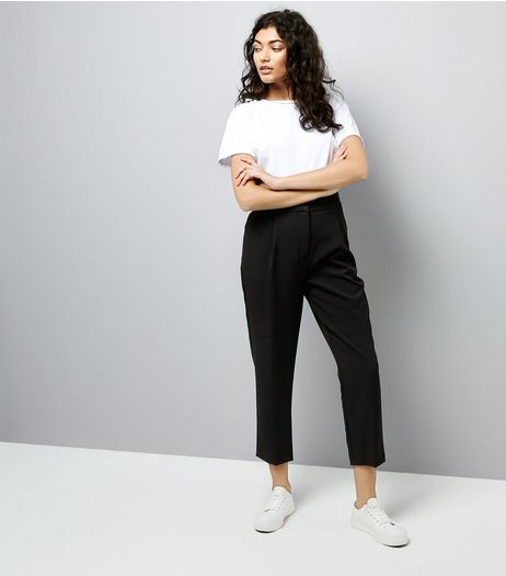 Black High Waist Tailored Trousers | New Look
