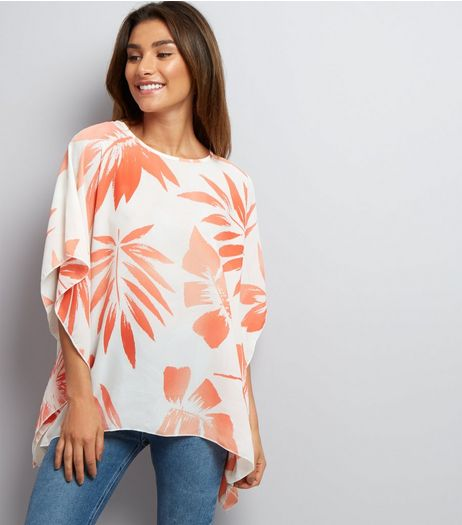 Apricot Cream Tropical Print Kaftan  | New Look