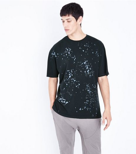 Black Spray Wash T-Shirt | New Look