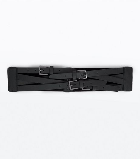 Black Multi Buckle Waist Belt | New Look