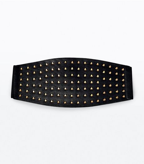 Black Stud Detail Waist Belt | New Look
