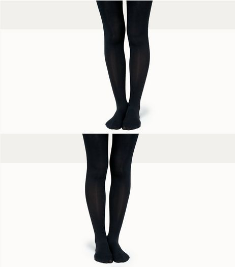 Teens 2 Pack Black 70 Denier Tights  | New Look