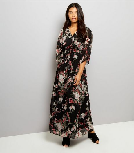 Apricot Black Floral Print Maxi Dress | New Look
