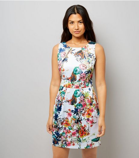 Apricot Cream Floral Print Dress | New Look
