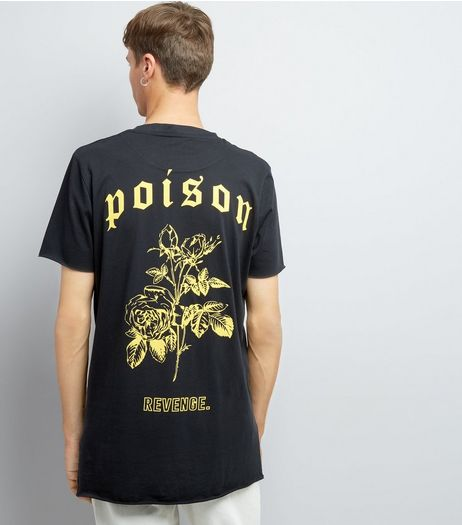 Black Poison Back Print T-Shirt | New Look