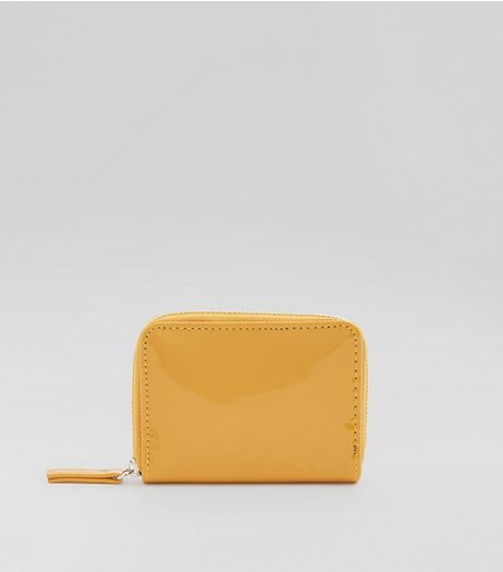 Yellow Patent Cardholder | New Look