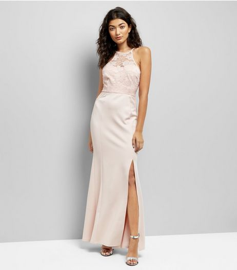 AX Paris Pink Lace Top Maxi Dress | New Look
