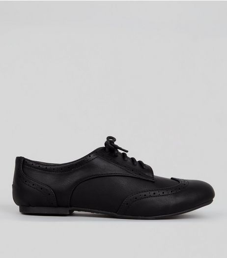 Teens Black Lace Up Brogues | New Look