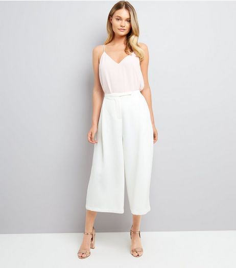 Apricot Cream Crepe High Waist Culottes | New Look